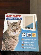Cat Mate 4 Way Locking Large Cat Flap White Pet Door 221W Small Dog New