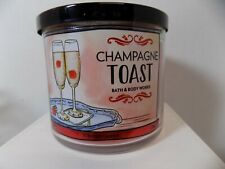 Bath and Body Works 3 Wick Champagne Toast Scented Candle W Essential Oils 14.5