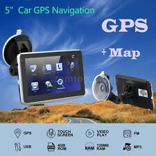 "5"" Touch Portable Car Gps Navigation Fm Video Play Car Navigator Free Map C5T7"