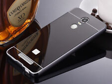Luxury Aluminum Metal Frame PC Mirror Back Slim Case Cover for XIAOMI Phone S001 Black for REDMI Note 3 Pro Special Edition 3i SE