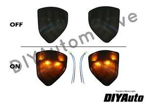 Tow Mirror Turn Signal Smoked Light Set (LH + RH) for Dodge Ram Pickup Truck New