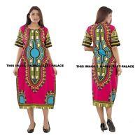 Mode Femmes Traditionnel Africain Imprimé Dashiki Robe Fête Hauts Chemise Hippie