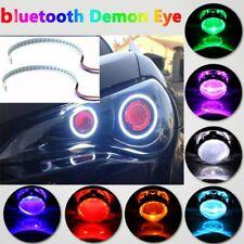 bluetooth Wireless Control Rgb 60 Led Demon Eye Halo Ring Headlight Projector (Fits: Titan)