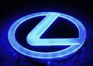 """Lexus LED 5D Blue Light Emblm Logo 105*68mm 4.1 X 2.7"""" GS300 ES300 ES240 RX350"""