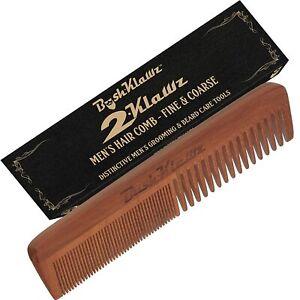 BushKlawz Men's Comb Coarse Thick Teeth Wooden Hair Beard Wooden Grooming Comb