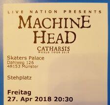 Tickets Machine Head Münster 27.04.18 Stehplätze Konzertkarten Eintrittskarten
