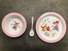 Set 3 Pièces Décoration Fille Assiette Plate Creuse et Cuillère ZARA HOME /EBEG
