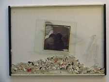 Jeffrey Blondes Beveled Glass Photo Collage / Torn Paper & Glass Shards 1984