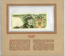 Most Treasured Banknotes Poland 1986 50 Zlotych P 142d UNC Birthday EY0919713
