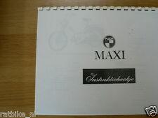 P0025 PUCH---INSTRUCTIE BOEKJE  MAXI  1 VERSN.AUT.MET ACHTERWIELVERING----MODEL