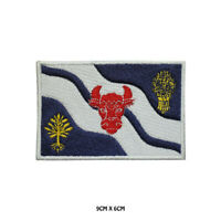 OXFORDSHIRE County Flag  Embroidered Patch Iron on Sew On Badge For Clothes Etc