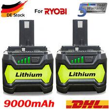 Für Ryobi P108 Akku 18 V 9,0Ah Lithium ONE Plus RB18L50 Batterie RB18L40 P104 DE