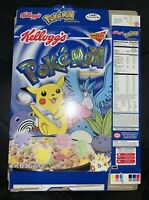 **RARE** 2000 Pokemon Pikachu Limited Edition Foil Logo Cereal Box