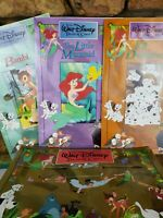 Vintage 1991 The WALT DISNEY Treasure Chest Book Collection Set of 3 Large Books