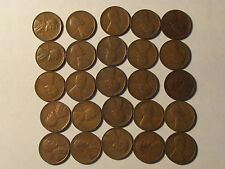 Roll 1930 D Lincoln Wheat Cents Penny in Good or Better Condition 50 Coins