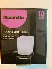 Mondella Bathroom Single Glass Holder Toothbrush Wall Mount Matte Black Finish
