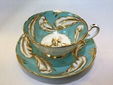 Cabinet Cup Royal Grafton Blue Feathers Footed Cup Pattern #K8045 Circa 1957+