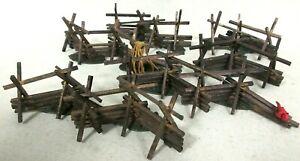 Lemax Village Collection Wooden Split Rail Fence 6 Piece Set 24776 Model Layout