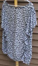 Woman's Black & White Sheer Blouse by Lane Bryant; Size:  22/24