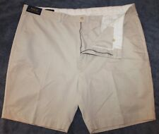 Polo Ralph Lauren Mens Stone Khaki Cotton Flat-Front Shorts NWT $75 Waist 40