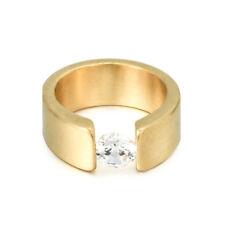 Unisex Fashion Cz Stainless Steel Couple Ring Men/Women Wedding Band Size 6-12