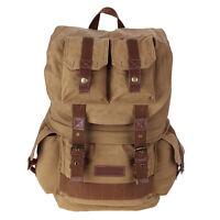 Vintage Large Canvas DSLR SLR Camera Bag Rucksack Backpack For Canon Nikon Sony
