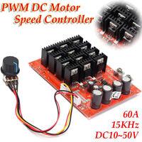 Universal PWM DC Motor Speed Control 60A DC 10-50V 0.01-3000W Motor Controller Y