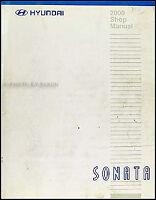 2000 Hyundai Sonata Shop Manual Original Repair Service Book OEM GLS