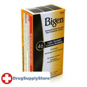 BL Bigen Powder Hair Color #46 Light Chestnut 0.21 oz - Two PACK