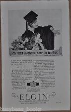 1925 ELGIN Watch advertisement, ladies wristwatch, graduation gift