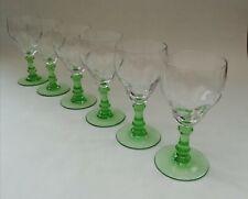 Green Stem Vintage Liqueur Sherry Aperitif Glasses 50ml  x 6
