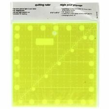 Clear Non Slip Patchwork & Quilting Ruler/Template with Grid 6.5 inch x 6.5 inch