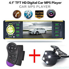 "4.1"" 1DIN Car In-Dash Digital MP5 Stereo Audio Player DVD FM Radio +Camera inp"