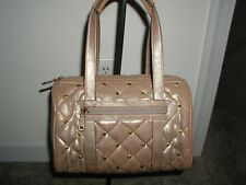 Doctor Bag Beige Irredesant with Studs Handbag