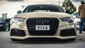 BKM RS6 Style Aftermarket Front Bumper, fits Audi A6 / S6 C7.0 Carbone Style Opt