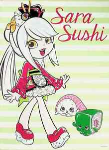"Sara Sushi  - Shopkins Shoppies Mini Poster 8"" x 11"""