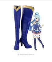 KonoSuba Gods Blessing on this Wonderful World! Aqua Cosplay Boots Shoes FF.1595