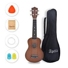 Apelila Soprano Ukulele 21 Acoustic Hawaii Guitar Folk String Music Instrument