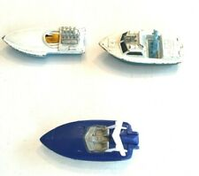 Matchbox Lesney Boats '75 Seafire #5, '78 Police Launch #52, '00 Tower Boat