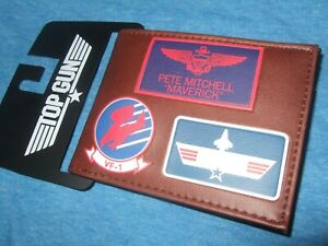 New Top Gun 80's Movie TOMCAT Maverick VF-1 Fighter School USAF Bifold Wallet
