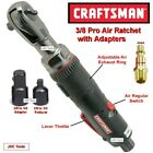 """CRAFTSMAN TOOLS 3/8 Drive Pro Air Ratchet Wrench 1/2 1/4 Adapters """"3 Tools in 1"""""""