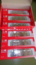 RIVAROSSI HR6224 Set Display con 6 carri chiusi Gs EUROP FS Italia, rosso vagone