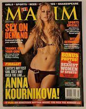 Maxim Magazine #80 August 2004 Anna Kournikova 100 Hometown Hotties Sports