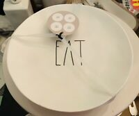 RAE DUNN Melamine Eat Salad Plates Set Of 4 New