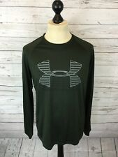 UNDER ARMOUR Heat Gear Top - Small - Green - Loose Fit - Great Condition