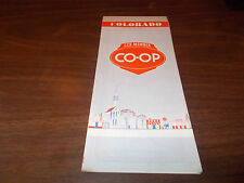 1957 Co-Op Colorado Vintage Road Map
