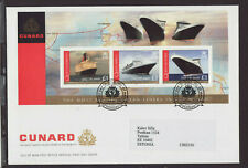 Isle of Man 2008 FDC - Cunard - famous liners in the world - with m/sheet