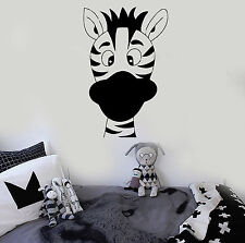 Vinyl Wall Decal Zebra Nursery Funny Animal for Kids Room Stickers (ig599)
