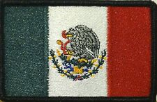 MEXICO Flag Military Patch With VELCRO® Brand Fastener Black Border #35