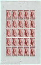 1944 - 25 TIMBRES EN FEUILLE ENTIERE NEUF**CATHEDRALE D'ALBI - STAMP. 667